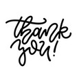 thank you lettering text give thanks concept vector image vector image