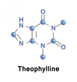 Theophylline methylxanthine drug vector image vector image