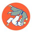 tomoe nage judo martial art vector image