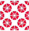 triangle grapefruit seamless pattern vector image