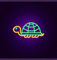 turtle neon sign vector image vector image