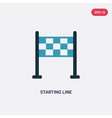 two color starting line icon from sports and vector image vector image