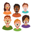 wild animals faces on people heads monsters vector image