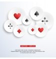 Abstract background with playing cards vector image
