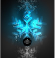 frozen winter holiday background christmas vector image