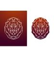 Vintage lion label Retro design graphic vector image