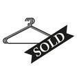 badge sold sign black icon vector image
