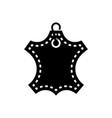 leather icon black sign on vector image
