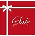 Sale red banner elegant gift vector image