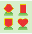 set of award icons template with empty space vector image