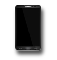 a mobile phone black eps10 vector image vector image