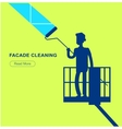 a window washer cleaner vector image