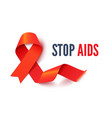 aids and hiv awareness month banner vector image