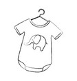 baby outfit with elephant vector image