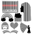 Bar code set vector image