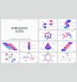 big set minimal infographic design templates vector image vector image
