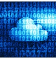 Binary cloud vector image vector image