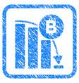 Bitcoin panic fall chart framed stamp
