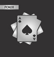 black and white style playing cards vector image