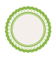 blank emblem icon image vector image vector image