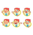 boy in different situations funny grimace vector image