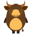 brown yak with happy face vector image