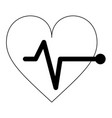cardiology heartbeat symbol isolated in black and vector image vector image