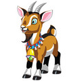 cartoon goat with bell vector image vector image