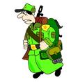 cartoon soldier vector image