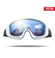 Classic vintage old school ski goggles vector image vector image