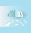 cloud technology business devices backgroundpaper vector image vector image