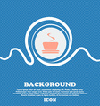 coffee tea sign Blue and white abstract background vector image