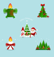 Collection of Christmas decorations vector image
