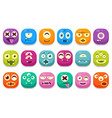 colorful buttons emoticons sett with different vector image vector image