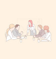 conference room meeting concept vector image vector image