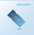 coupon vector image vector image