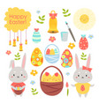 easter holiday color cartoon flat vector image