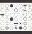 empty grunge rubber stamp collection vector image vector image