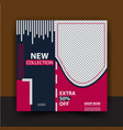 fashion shopping abstract sale post design vector image vector image
