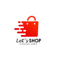 fast shopping logo icon design lets shopping logo vector image vector image