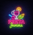 festa junina festive design vector image