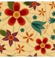 Flowers pattern retro vector image vector image
