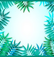 frame colorful tropical leaves concept the vector image vector image