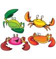 funny crabs vector image vector image