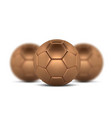 gold soccer ball on white background golden vector image vector image