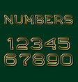 golden hollow angular numbers with shadow fashion