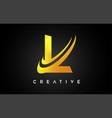 golden letter l logo l letter design with