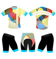 graphics colors on sports t-shirt vector image vector image