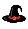 halloween witch hat cartoon vector image vector image