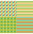 happy easter set seamless patterns vector image